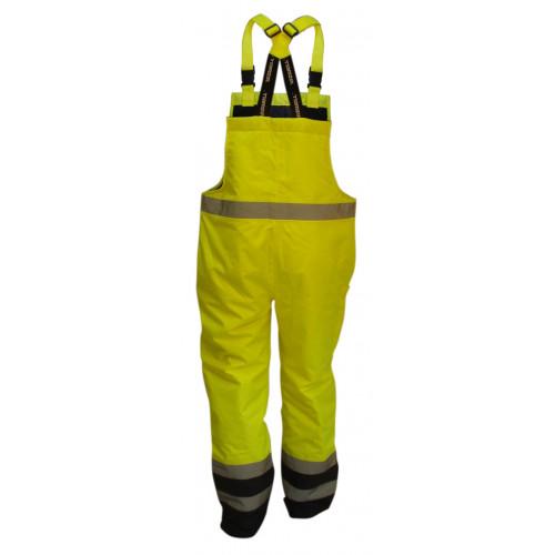 Spodnie robocze ocieplane ostrzegawcze żółte Vizwell VWJK113BYN