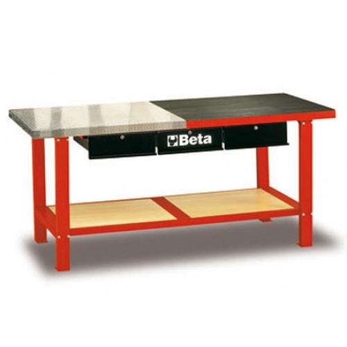 Stół warsztatowy czerwony C56MR