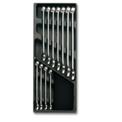 Zestaw 11 kluczy płasko-oczkowych slim Beta 2424/T13