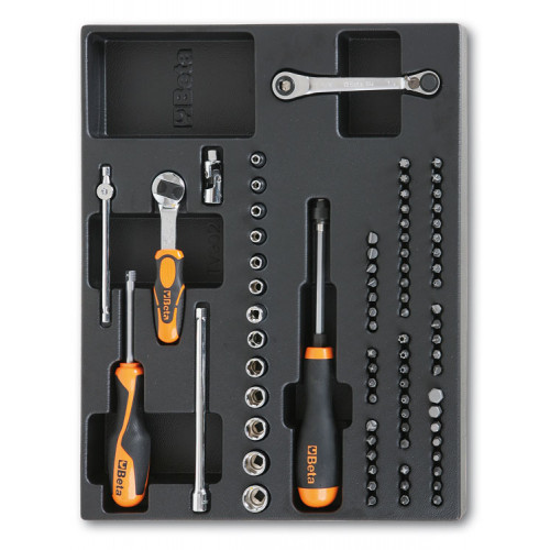 Zestaw 81 narzędzi we wkładce z tworzywa Beta T85