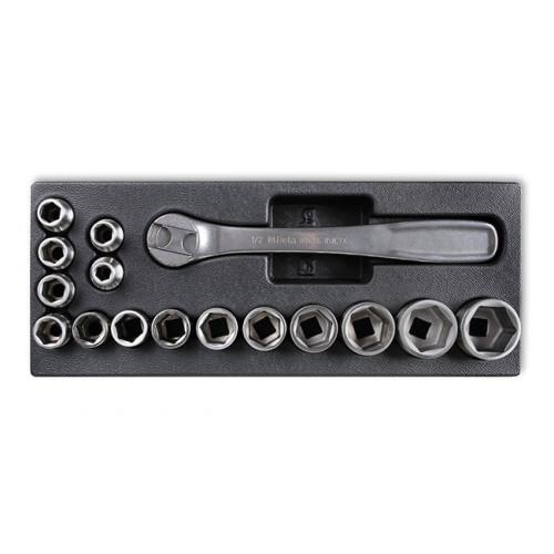 Zestaw 16 narzędzi inox we wkładzie z tworzywa Beta 2424/T99