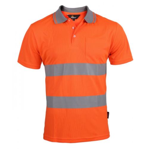 Koszulka polo Coolpass ostrzegawcza pomarańczowa Vizwell VWPS01-AO