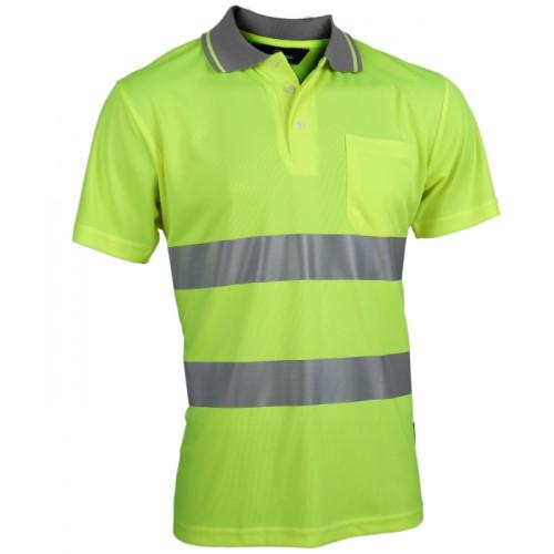 Koszulka polo Coolpass ostrzegawcza Vizwell VWPS01-AY  (żółta)
