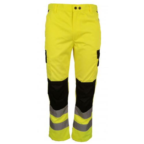 Spodnie robocze ostrzegwacze żółto-czarne Vizwell VWTC149YB