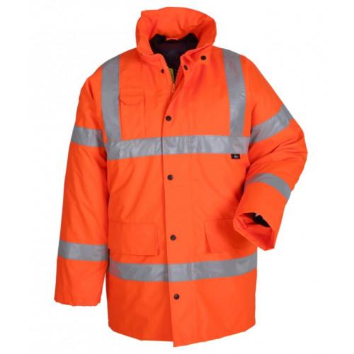 Kurtka ostrzegawcza zimowa pomarańczowa Vizwell VWJK01O/L