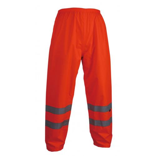 Spodnie ostrzegawcze przeciwdeszczowe pomarańczowe Vizwell VWJK07O