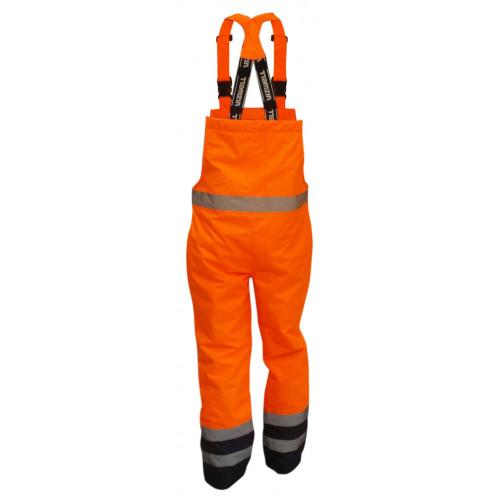 Spodnie na szelkach ostrzegawcze pomarańczowo-granatowe, rozmiar S