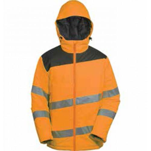 Kurtka ostrzegawcza pomarańczowa z podszewką Vizwell VWJK263OG