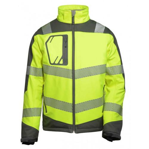 Termiczna kurtka softshell o intensywnej widzialności z podszewką aluminiową Vizwell VWJK268