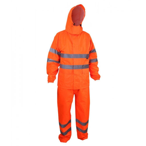 Komplet przeciwdeszczowy ostrzegawczy pomarańczowy Vizwell VWJK67-68O