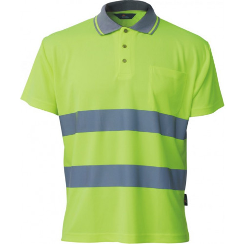 Koszulka polo Coolpass ostrzegawcza żółta Vizwell VWPS01-AY/L