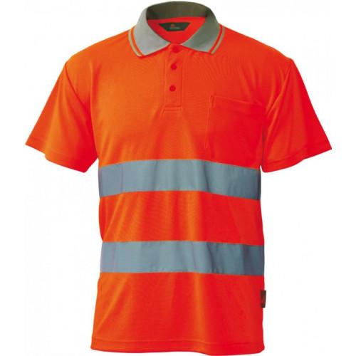 Koszulka polo ostrzegawcza o intensywnej widzialności Vizwell VWPS01-BO