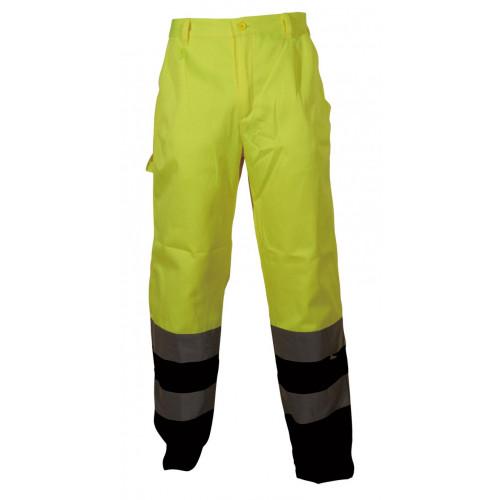 Spodnie robocze ostrzegawcze żółto-granatowe Vizwell VWTC07-2BYN