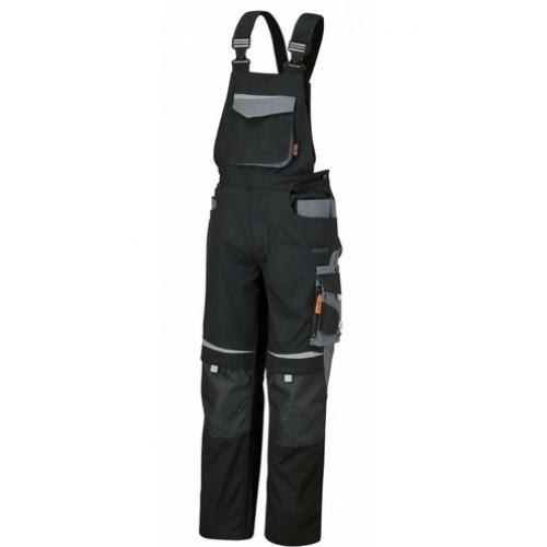 Spodnie robocze na szelkach stalowo-szare top line Beta 7823