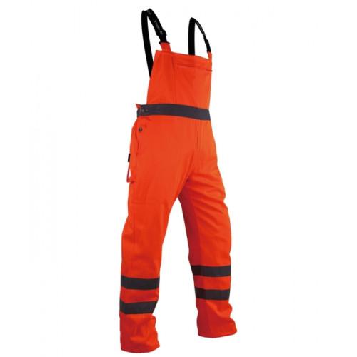 Spodnie robocze na szelkach Vizwell VWTC08O