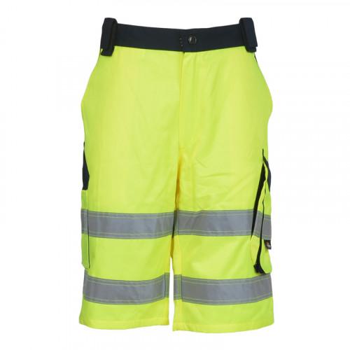 Spodnie ostrzegawcze krótkie żółte Vizwell VWTC114YN