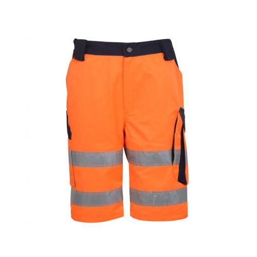 Spodnie ostrzegawcze krótkie pomarańczowe Vizwell VWTC114ON
