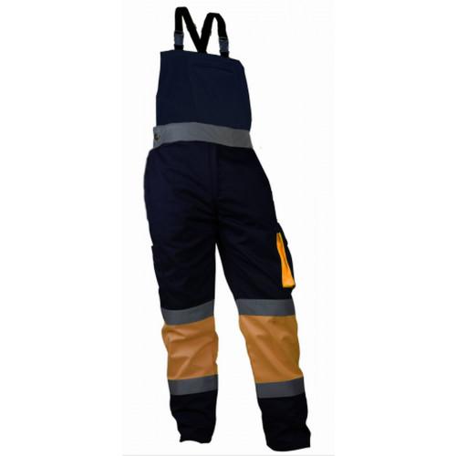 Spodnie robocze na szelkach ostrzegawcze Vizwell VWTC150ON