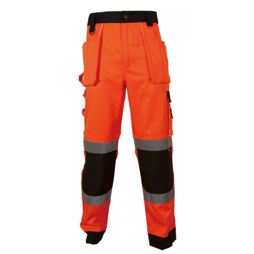 Spodnie robocze ostrzegawcze pomarańczowo-granatowe Vizwell VWTC64-BON/M