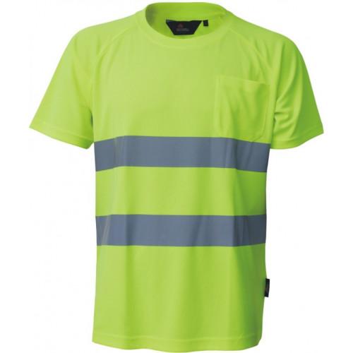 T-shirt ostrzegawczy żółty Coolpass Vizwell VWTS01-AY/XL