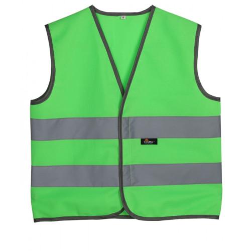 Kamizelka dziecięca ostrzegawcza zielona Vizwell VWEN01-CG