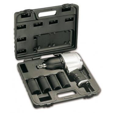 Zestaw klucza udarowego dwukierunkowego i czterech nasadek udarowych długich Beta 1928/K4