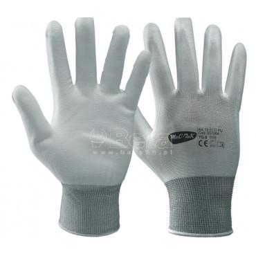 Bezszwowe rękawice poliestrowe 13ECO-PU MAC-TUK 337064