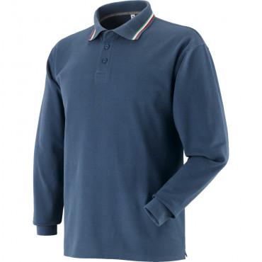 Koszulka polo z długimi rękawami granatowa Greenbay 471056