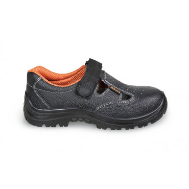 Sandały bezpieczne skórzane perforowane Beta 7247BK