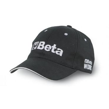 Czapka z daszkiem czarna Beta 7982B