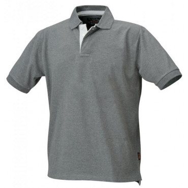 Koszulka polo bawełniana szara Beta 7546G