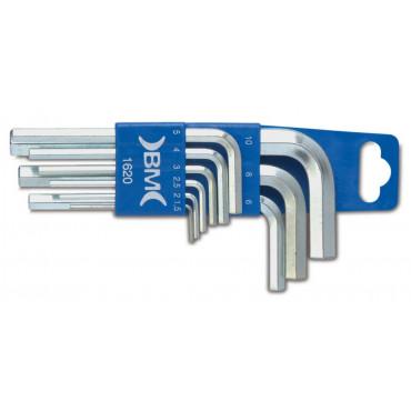 Komplet 9 kluczy trzpieniowych kątowych BM1620 - rozmiary: 1.5-10mm
