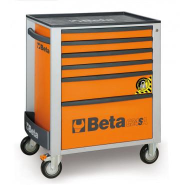 Wózek narzędziowy z 6 szufladami z systemem zabezpieczającym przed przewróceniem, Beta C24SA/6 - 2400SA6