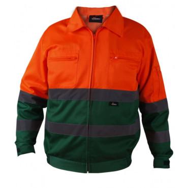 Kurtka robocza ostrzegawcza Vizwell VWTC06-BOG  (pomarańczowo-zielona)