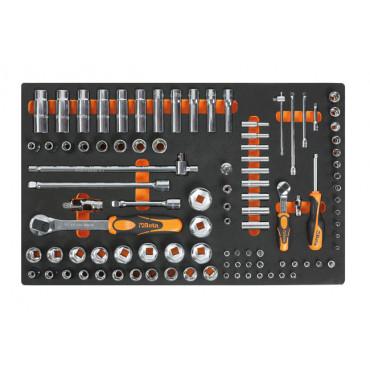 Zestaw 98 narzędzi w miękkim wkładzie Beta 2450/M100