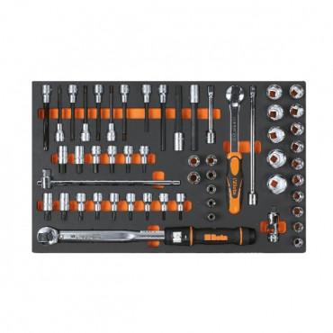 Zestaw 54 narzędzi w miękkim wkładzie Beta 2450/M115