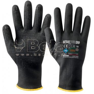 Bezszwowe rękawice Nitran Toltal Grip nylonowo-elastanowe z powłoką z pianki nitrylowej MAC-TUK353091