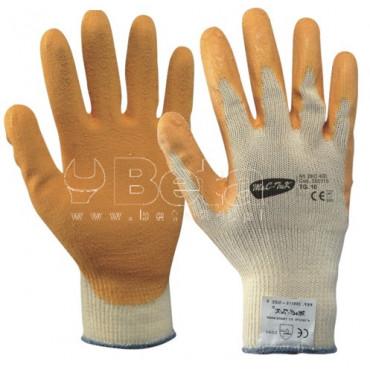 Bezszwowe rękawice EKO 400 bawełniano-poliestrowe pokryte lateksem MAC-TUK 355115
