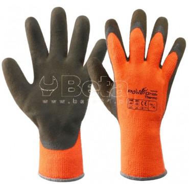 Bezszwowe rękawice POWERGRAB® THERMO akrylowo-poliestrowe pokryte lateksem Towa 355122