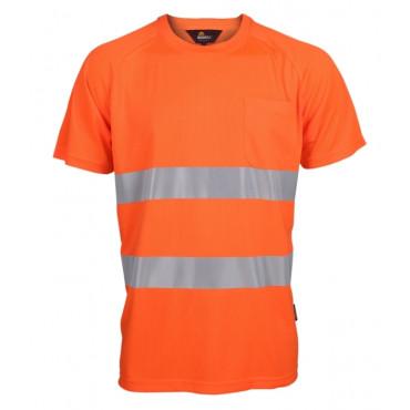 T-shirt ostrzegawczy pomarańczowy Coolpass Vizwell VWTS01-AO