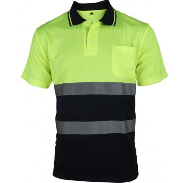 Koszulka polo ostrzegawcza żółta Vizwell VWPS13YN