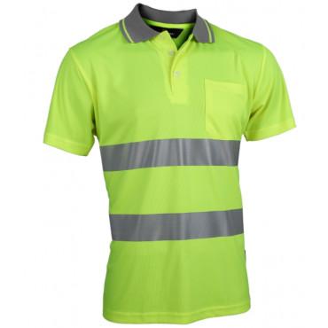 Koszulka polo Coolpass ostrzegawcza żółta Vizwell VWPS01-AY