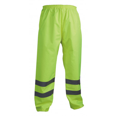 Spodnie ostrzegawcze przeciwdeszczowe żółte Vizwell VWJK07Y