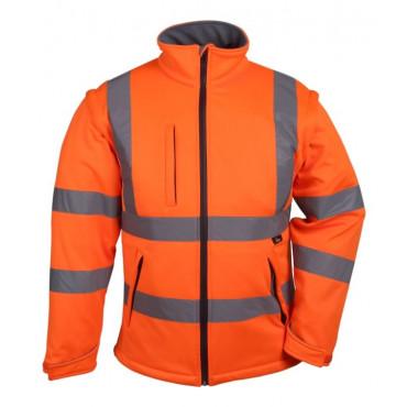 Kurtka softshell ostrzegawcza pomarańczowa Vizwell VWJK176O