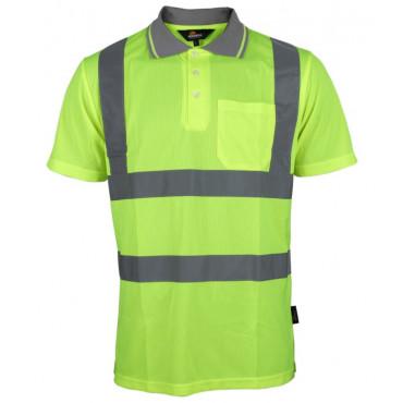 Koszulka polo ostrzegawcza żółta Vizwell VWPS03-BY