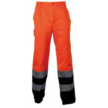 Spodnie robocze ostrzegawcze pomarańczowo-granatowe Vizwell VWTC07-2BON