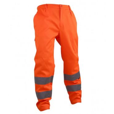 Spodnie robocze ostrzegawcze pomarańczowe Vizwell VWTC07-2O
