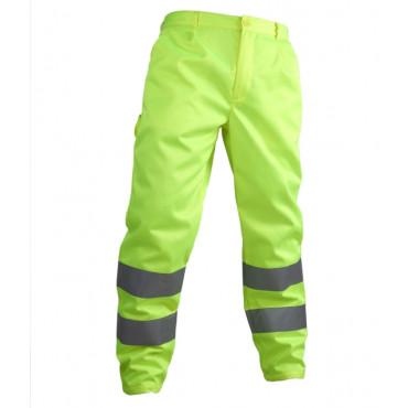 Spodnie robocze ostrzegawcze żółte Vizwell VWTC07-2Y