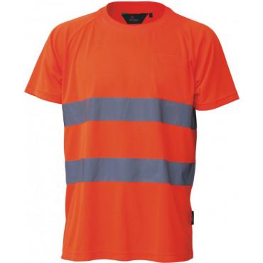T-shirt ostrzegawczy pomarańczowy Vizwell VWTS01-BO