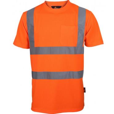 T-shirt ostrzegawczy pomarańczowy Vizwell VWTS03-BO